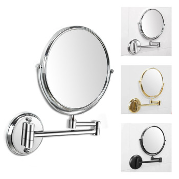 desktop 36led facial makeup mirror compact size 180 degree rotation tabletop cosmetic makeup mirror with magnification new Wall Mounted Makeup Mirror 3x Magnification 8'' Two-Sided Swivel 180 Extendable Arm Bathroom 360 Rotation Full View Mirror