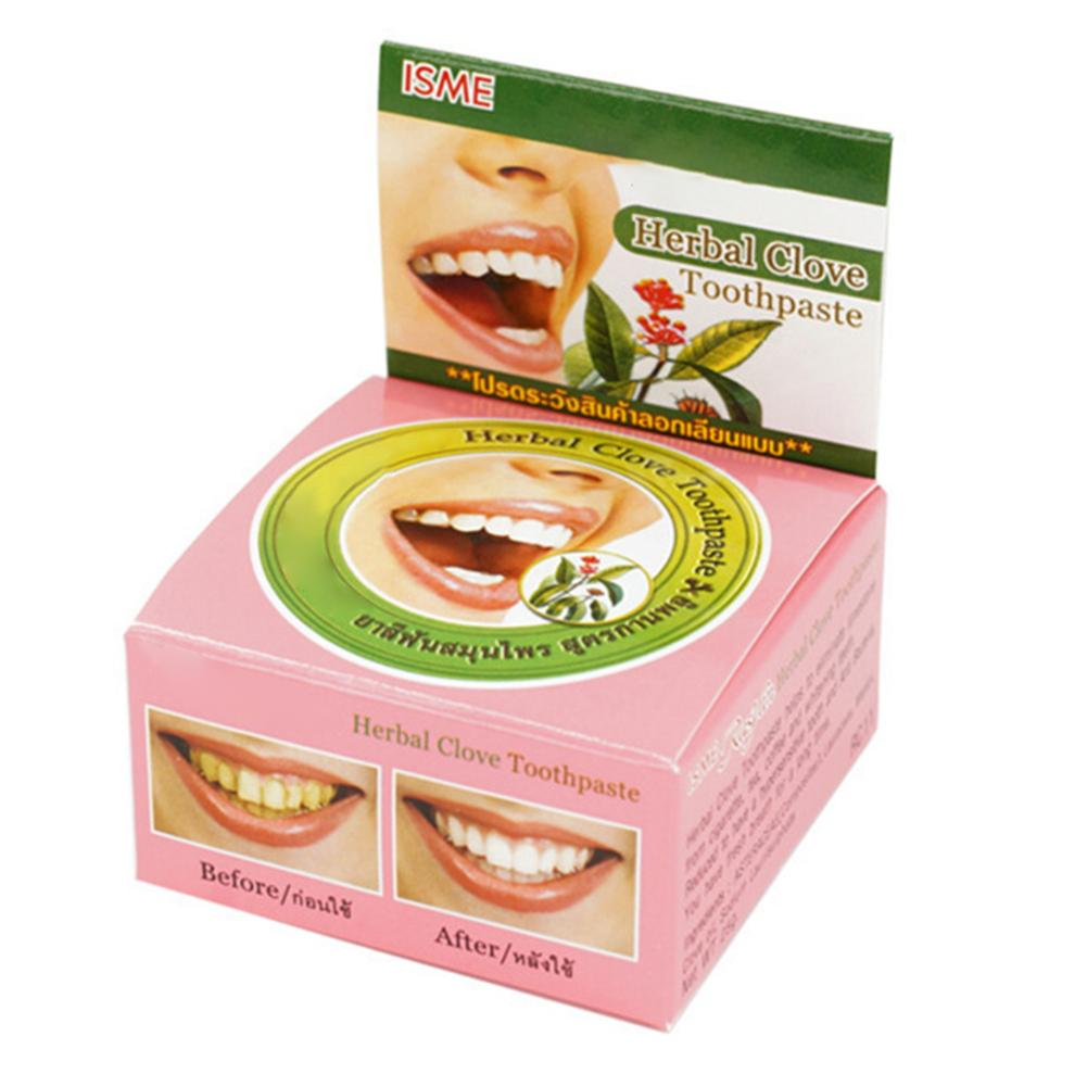 Natural Herbal Clove <font><b>Thailand</b></font> Toothpaste Tooth Whitening Toothpaste Remove Stain Antibacterial Allergic Tooth Paste image