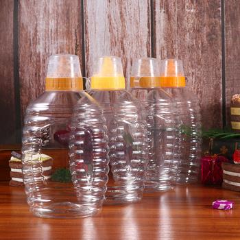 4 sztuk przeźroczyste tworzywo sztuczne miód butelka do pakowania żywności butelka miód słoik z pokrywką miód butelka dżem pojemnik dla domu (1000g Capaci tanie i dobre opinie CN (pochodzenie)