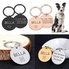 Etiqueta de gato de aço inoxidável do gato do animal de estimação das etiquetas de endereço do cão do animal de estimação