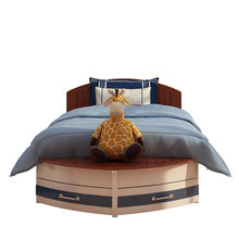 Lit en bois massif personnalisé pour enfants, meuble de suite créatif pour garçons, bateau nautique pour enfants
