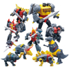 Planet Dinosaur Transformation Origional Paint Dinobots Warrior Animation Color Deformation Action FIgure Transformer G1 Toy