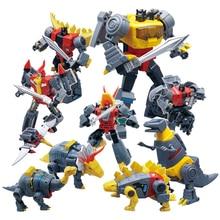 Planet ไดโนเสาร์ Transformation เดิมสี Dinobots Warrior ภาพเคลื่อนไหวสี Deformation Action FIGURE หม้อแปลง G1 ของเล่น
