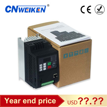 variable frequency converter 50Hz/60Hz motor inverter Wk310 VFD 1.5kw single-phase 220v input three-phase 220 output
