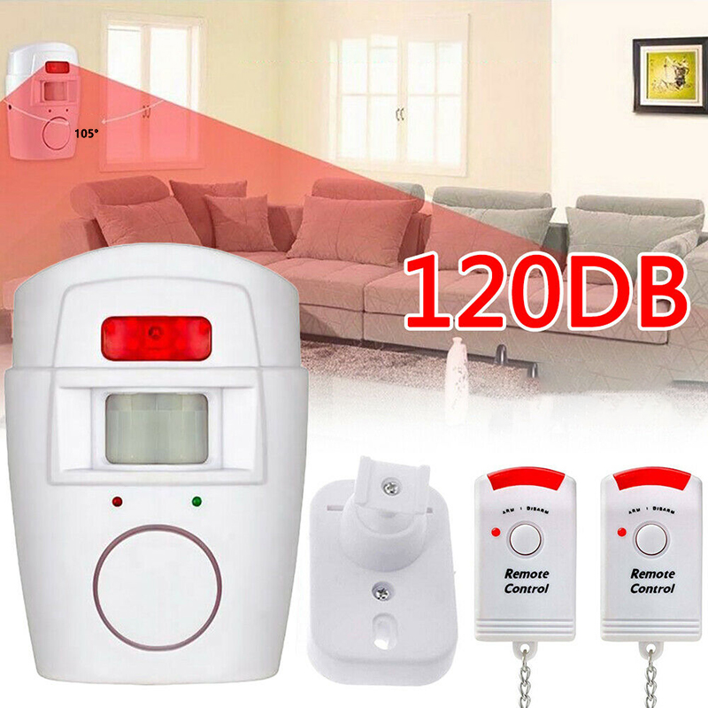 New Intelligent Home Security PIR MP Alert Infrared Sensor Anti-theft Detector Monitor Wireless Alarm System Remote Controller