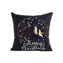 kawaii cartoon white black golden cushion cover 45*45cm no inner hot stamping coussin decoratif backrest X21