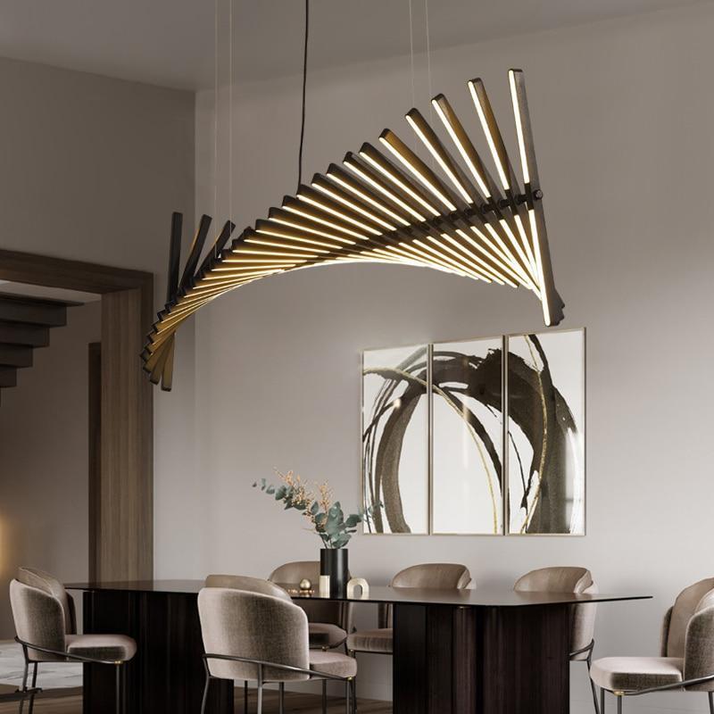 Nordic Living Room LED Chandelier ...