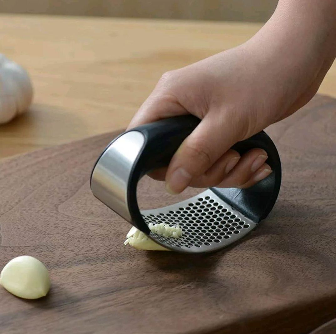Stainless Steel Garlic Press, Manual Garlic Mincer, Garlic Chopping Tools, Fruit Vegetable Tools Kitchen Gadgets