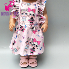 Baby Doll dress with bow for 18 inch girl doll clothes baby dolls pink dress with bow baby doll jean dress with legging for 18 inch girl doll jeans clothes and long socks baby doll clothes