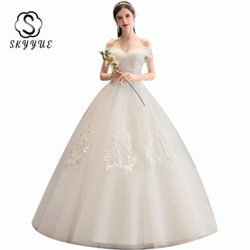 Vestido De Novia Skyyue ER677 Off Shoulder Wedding Ball Gowns Elegant Plus Size Wedding Dress Lace Floor Length Wedding Dresses