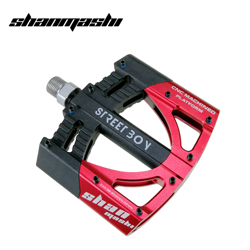 SMS Lightweight Mountain Bike Pedal Bearing Comfort Pedals Flat Platform 9//16 in