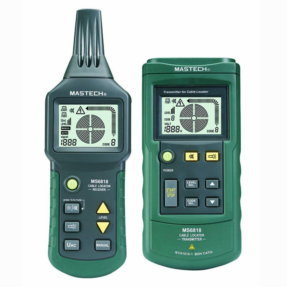 Mastech MS6818 Portable Professional Wire Cable Tracker Metal Pipe Locator Detector Tester Line Tracker Prospecting Instrument