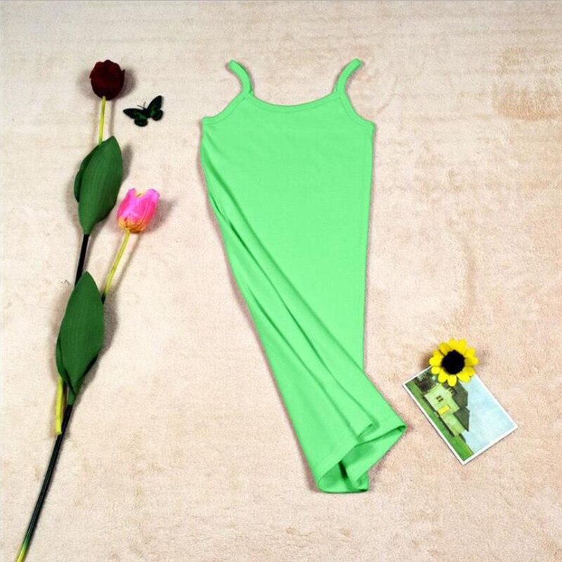 Новинка, Женская эластичная кофточка на бретельках, Длинный топ на бретелях, Мини Короткое платье, летнее повседневное сексуальное платье без рукавов для женщин - Цвет: A-Green