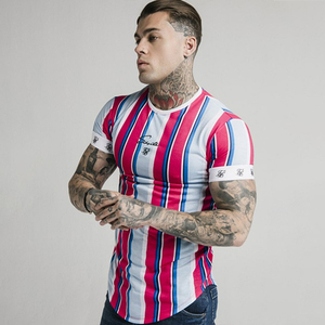 Summer SikSilk Male T Shirt Silk Silk Tshirt O-Neck Short Funny Mens Shirts T Shirts Sik Silk Men Tops Tees(China)