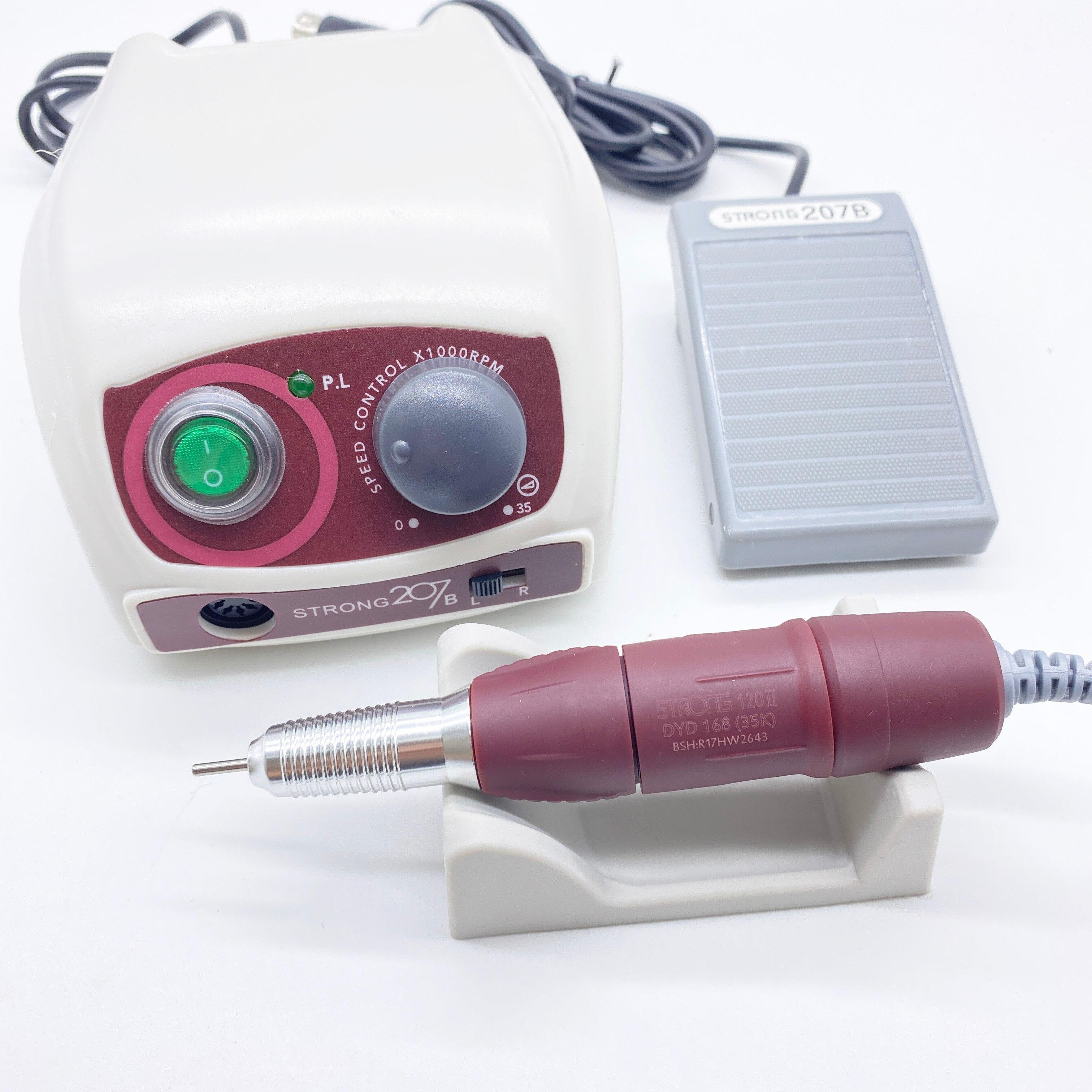 forte 207b eletrica prego broca 65w 35000 maquina de trituracao para manicure pedicure prego broca aparelho