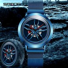 Sanda 2020 модные новые кварцевые мужские часы Форсаж 360 °