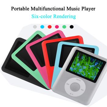 Mini odtwarzacz muzyczny MP3 wysokiej jakości przenośny odtwarzacz MP3 radio odtwarzacz obsługa radia fm wideo E-book z dużą pamięcią tanie i dobre opinie NoEnName_Null APE FLAC Ogólne Wideo MP3 Dotykowy Tone Hard disk ≥89dB 10 godzin 52 3*69 8*8mm 1 8 cali Bateria litowa