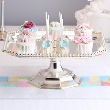 Square cake stand Silver  iron metal tools high quality wedding table decoator home decoration Dessert Tray Home decora