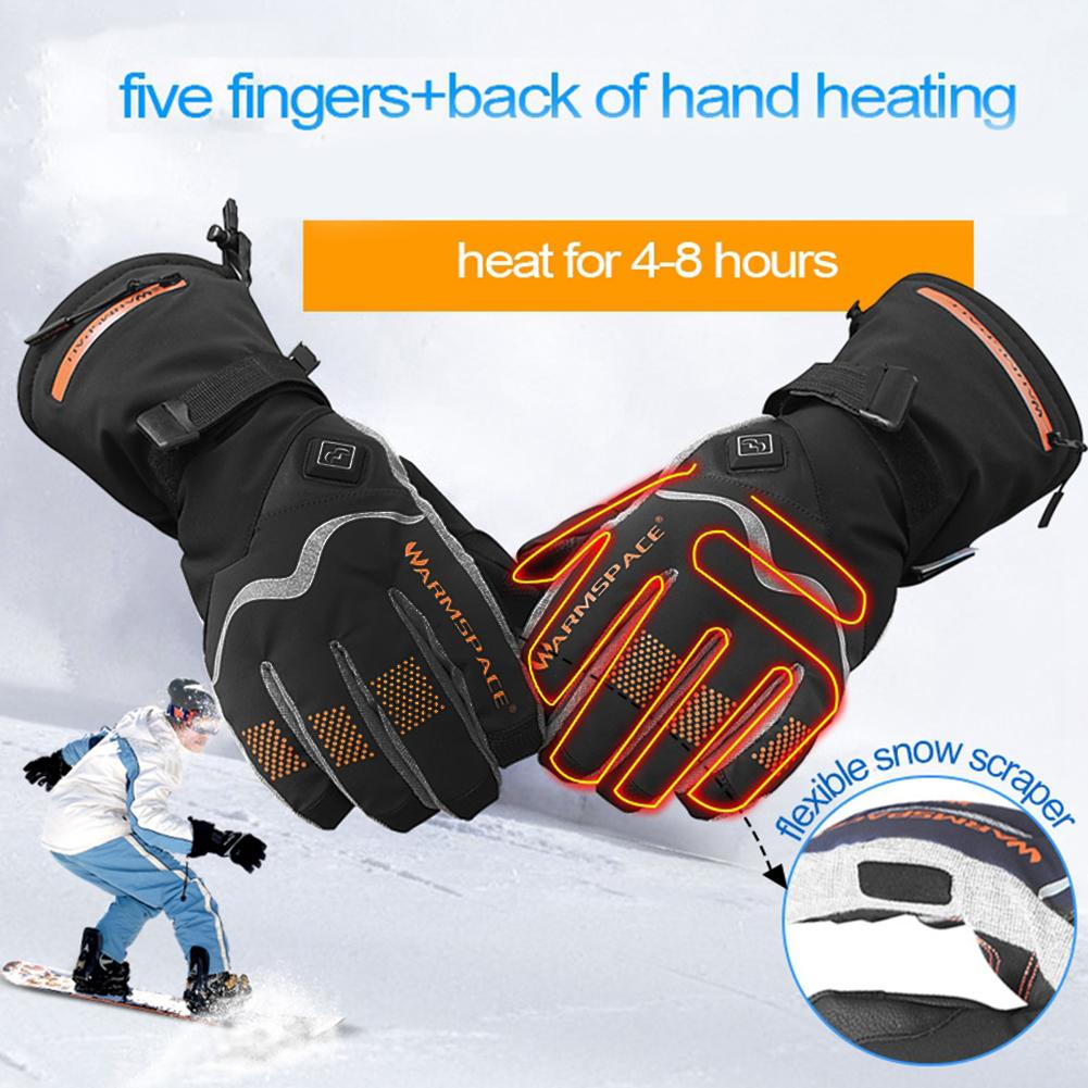 Heated Glove Temperature Control Gloves waterproof warm outdoor for Men Women Motorcycle Skiing Ridding gloves