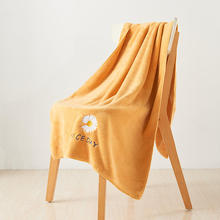 Towel-Set Coral-Fleece Highly-Absorbent And Super-Soft 140x70cm Daisy-Pattern Toalhas-De-Banho