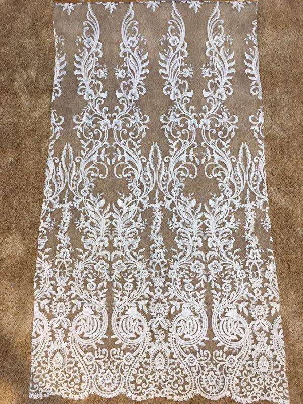 Embroidery Lace  Wedding Dress Fabric  Nigerian Textile African Trimming Lace 5Yards/ Lot