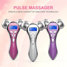 4D Diamond-Cut Roller Micro-current Vibration Face Massager Facial Lift Shaping & Wrinkle Remove Machine Body Slimming Device