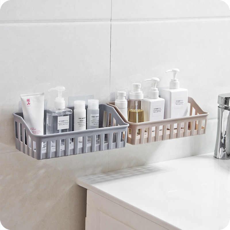 浴室強力なシームレス収納棚穴パンチプラスチックキッチン収納棚浴室の壁ハンガー洗浄勇ピン嘉バッチ