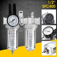 SFC400 1/2 Inch Air Compressor Oil Lubricator Moisture Water Air Source With Connecting Filter Regulator Pneumatic Parts Tool