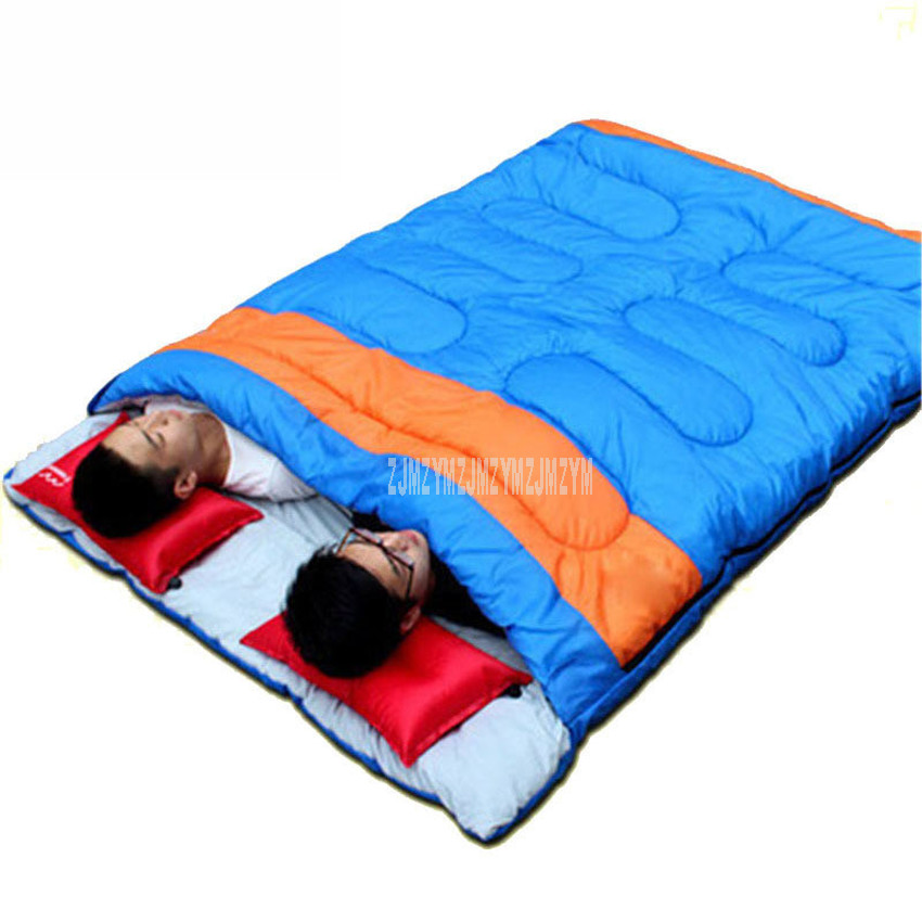 220x150cm Double Person Desert Camping Sleeping Bag Lightweight Envelope Type Adult Sleeping Bag For Outdoor Traveling Hiking