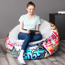 Adult Home Outdoor Inflatable Doodle Sofa Round Air Chairs Blow Up Lazy Couchs