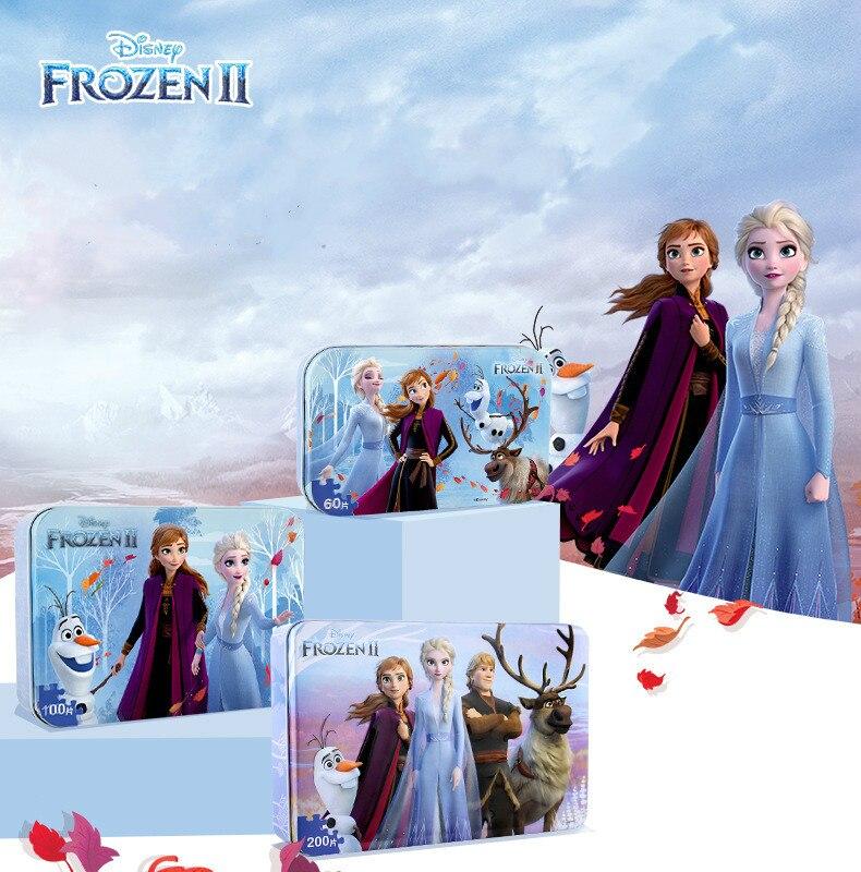 Disney 3d puzzle 60 pces congelados 2/neve branco 60 pces quebra-cabeça crianças quebra-cabeça de papel brinquedos educativos das crianças 60 peça