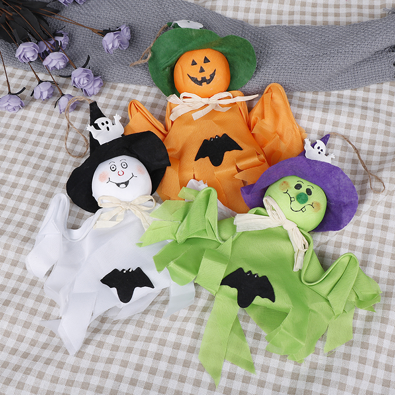 Hot 1Pc Horror Ghost Witches Pendant Halloween Party Decoration Kids Trick Hanging Garland Props Hanging Ghost Party Decoration