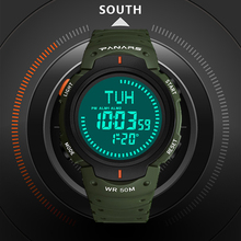 SYNOKE Compass Outdoor Sports Watch Extreme Sports Alarm Distress Watch