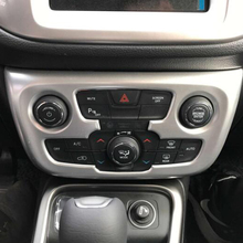 3pcs red car air conditioner switch cover for jeep wrangler 2008 2014 auto air conditioner button ring interior car styling Matte/ Carbon Fibre Trim Shell Car Interior Accessories for Jeep Compass 2017 2018 Car Air Conditioner Switch Panel Frame Cover