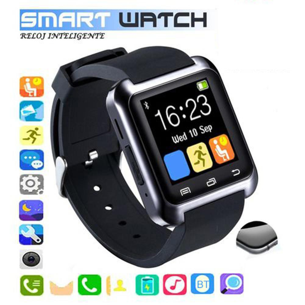 New Bluetooth U80 Bluetooth Smart Watch For IPhone IOS Android Watches Call Message Reminder Altimeter Smartwatch