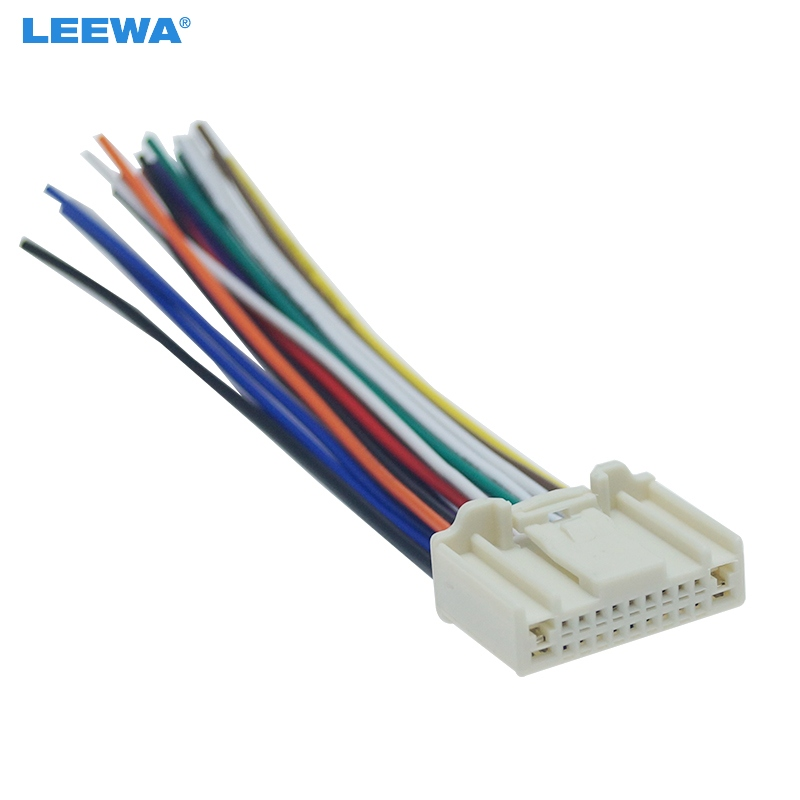 Leewa 10pcs Car Stereo Cd  Player Wiring Harness Adapter Plug For Nissan  Subaru  Infiniti Oem