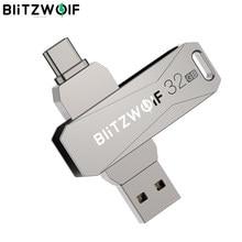 BlitzWolf-BW-UPC2 2 en 1, tipo C, USB 3,0, transmisión ultraligera, rotación de 360 °, aleación de Zinc, 32GB 64GB, admite unidad Flash de USB OTG