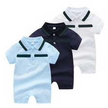 Summer Boys And Girls Fashion Cotton fabric Newborn Baby Climbing Clothes Brands Girl Romper Infant Brand Costumes