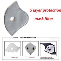 10 sztuk PM2.5 Maska jednorazowa filtr węgiel aktywny maski filtr Anti PM2.5 Maska z filtrem przeciw zanieczyszczeniom powietrza Maska twarzy filtry 1