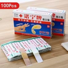 100 個アソート通気性防水漫画粘着包帯止血プラスター子供のための混合型