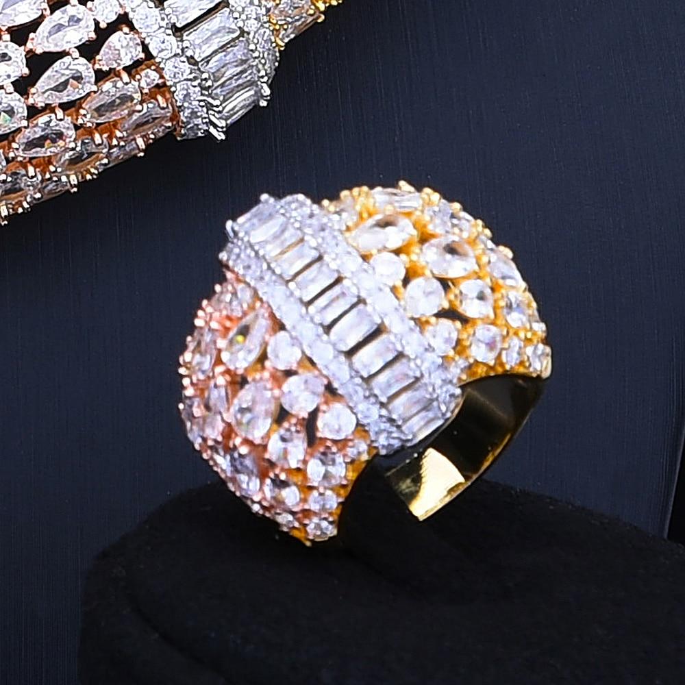 Feather Lariat Flower Women Wedding Cubic Zirconia Choker Necklace Earring Jewelry Set Jewellery