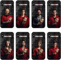 Spagna TV La Casa de papel Molle di TPU Della Copertura Posteriore del Silicone Cassa Del Telefono Per il iPhone di Apple XS MAX 6 6S Plus 7 8 Più di X XR Cassa nera