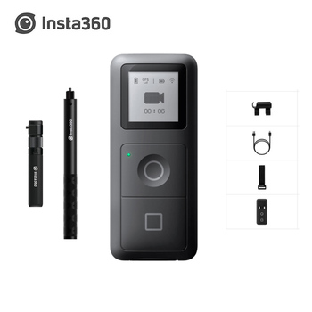Insta360 One R X Bullet time+GPS Smart Remote Control Kits For Action VR Insta360 Camera Invisible Selfie Stick Tripod Accessory insta360 one x 5 7k 18mp sport action camera for iphone android insta 360 battery charger bullet time invisible selfie stick