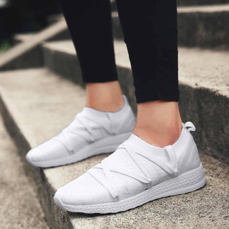 Nữ Giày Thể Thao Mùa Xuân Giày Thể Thao Đi Bộ Giày Thể Thao Chạy Bộ Giày Mềm Mại Nữ Nền Tảng Giày 2019