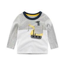 Outfits Coat Baby-Boy Tops Shirt Long-Sleeve Toddler New Fashion Cartoon Tee Kids