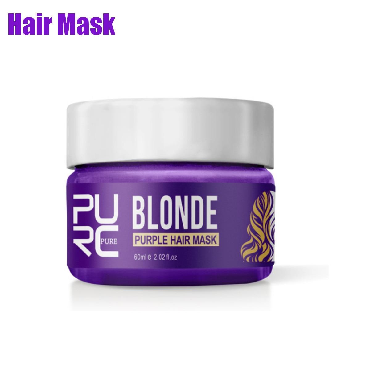 Máscara roxa para remoção de cabelos, shampoo