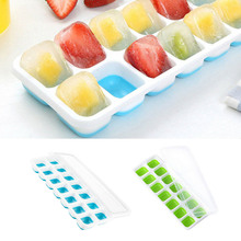 Trays Ice-Cubes-Mold Mould Make-Tool Ice-Maker Drink Water-Cocktail DIY 14 with Non-Spill-Lid