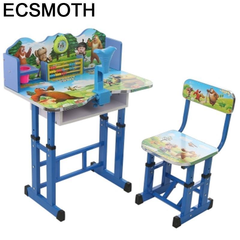 Dla Dzieci Avec Chaise Pour Estudio Kindertisch Mesa De Estudo Escritorio Infantil Adjustable Kinder Enfant Study Table For Kids