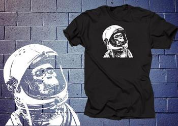 Astronauta szympans koszulka koszula zabawna koszula małpa kosmiczna koszulka planeta Nasa koszulka prezent świąteczny Humor urodzinowy tanie i dobre opinie Podróż TR (pochodzenie) Cztery pory roku Z okrągłym kołnierzykiem SHORT normal COTTON Na co dzień Znak