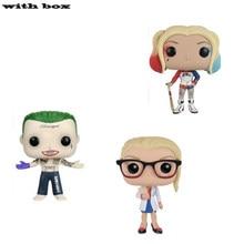 Pop dc comics esquadrão suicídio & harley quinn joker dr. harleen com caixa de ação figura collectible modelo brinquedos para chlidren